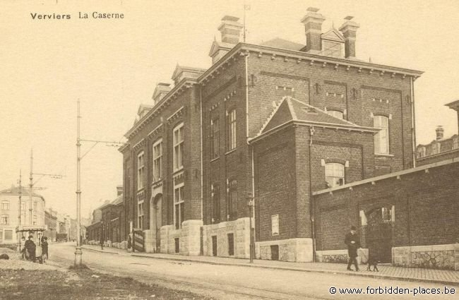 Verviers barracks - (c) Forbidden Places - Sylvain Margaine - Old postcard showing the barracks \#2
