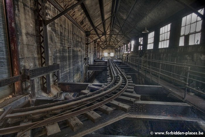Westport power plant - (c) Forbidden Places - Sylvain Margaine - The rails for the colliery wagons