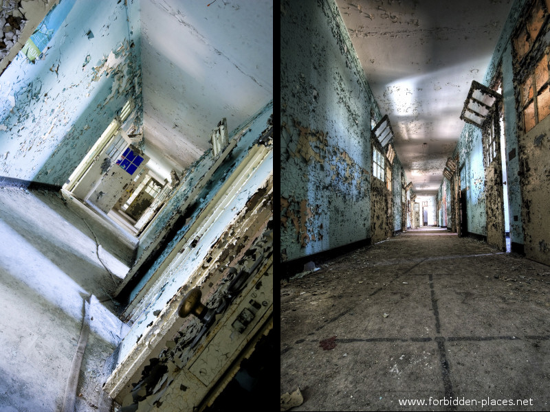 New Jersey State Hospital for the Insane - (c) Forbidden Places - Sylvain Margaine - 4- Colored corridors.