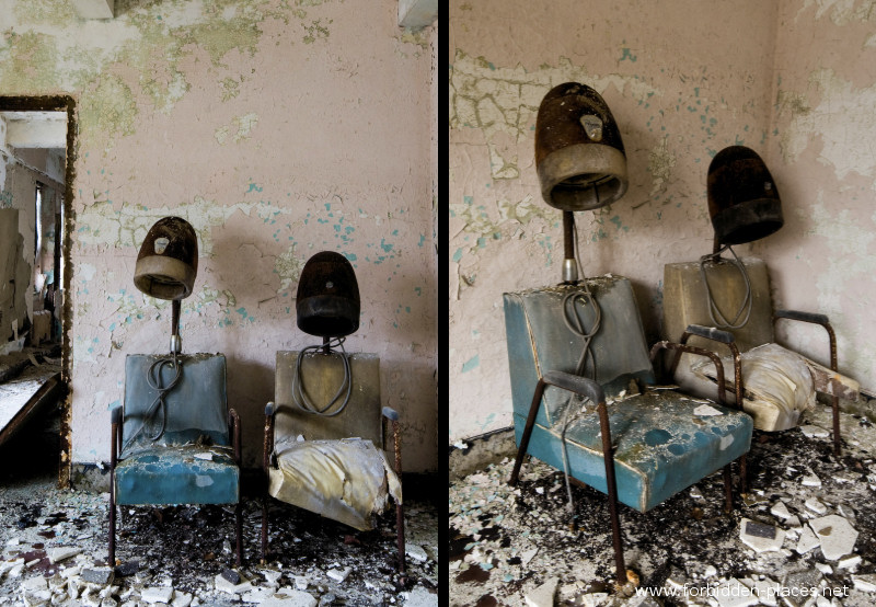 New Jersey State Hospital for the Insane - (c) Forbidden Places - Sylvain Margaine - <![CDATA[20 - Hair salon.<br>Henk has almost the same picture, taken 3 years ago, <u><a href='http://www.abandoned-places.com/asylum02.htm' target='_blank'>here</a></u>]]>.