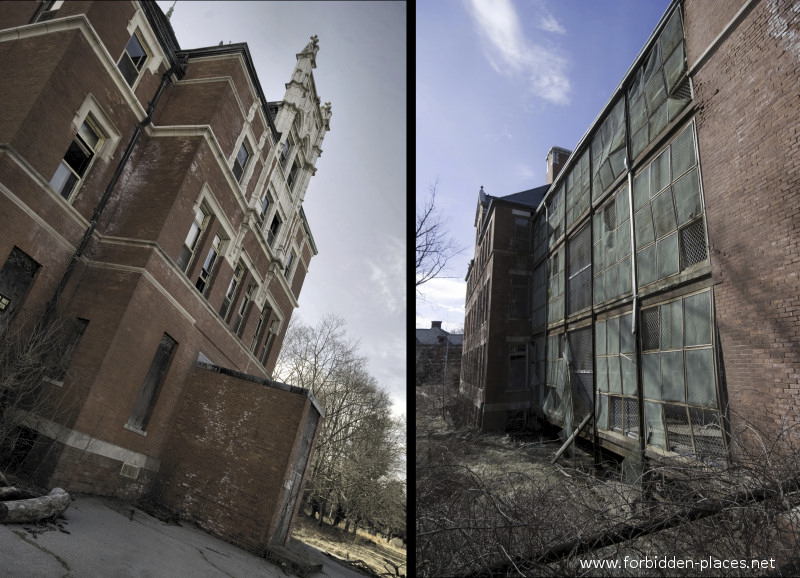 El asilo de Norwich - (c) Forbidden Places - Sylvain Margaine - 1- Welcome. The front façade is magnificent. On the back, it is decaying...
