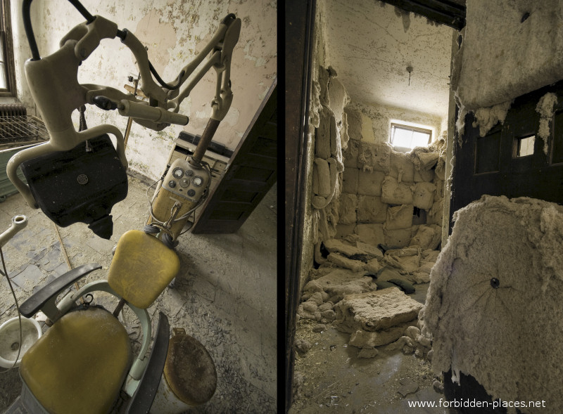 El asilo de Norwich - (c) Forbidden Places - Sylvain Margaine - 4- The dentist and the decayed padded cell.