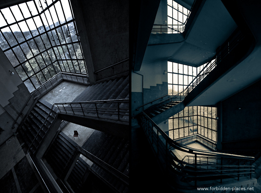 Val Beno�t's University - (c) Forbidden Places - Sylvain Margaine - 4- Dark perspectives.