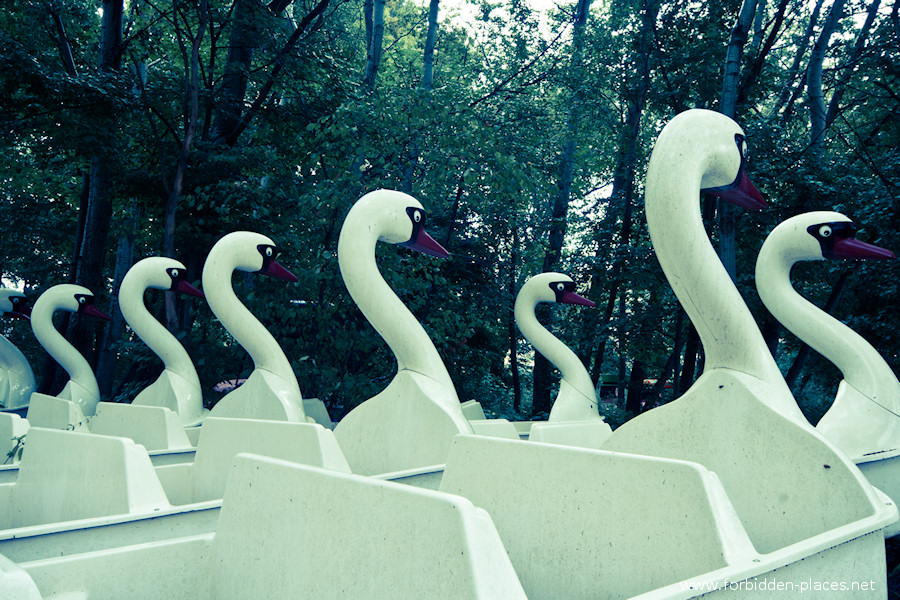 Spreepark - El Parque de Attractiones Abandonado - (c) Forbidden Places - Sylvain Margaine - 5- Ghostly swans