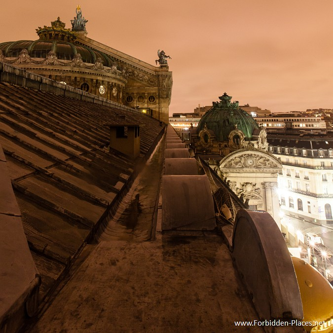 The Palais Garnier - (c) Forbidden Places - Sylvain Margaine - 3- Rooftop!