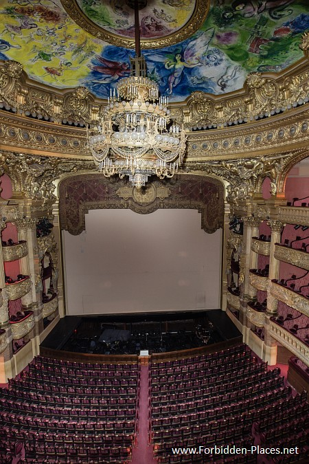 The Palais Garnier - (c) Forbidden Places - Sylvain Margaine - 10 - The main auditorium.