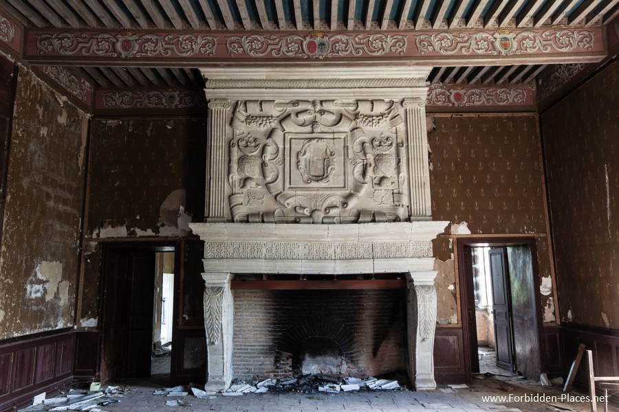 Abandoned Castles from South West of France - (c) Forbidden Places - Sylvain Margaine - 3- Enormous fireplace.