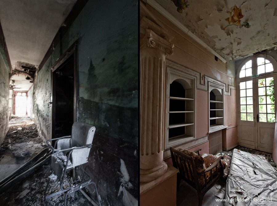 Abandoned Castles from South West of France - (c) Forbidden Places - Sylvain Margaine - 12- Corridors.